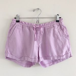 Old Navy Purple Linen Blend Pull-On Shorts Small